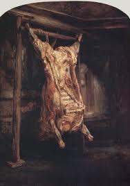 Le boeuf écorché, Rembrandt (1655)