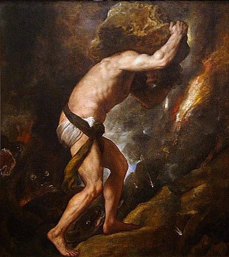 Titien le mythe de Sisyphe