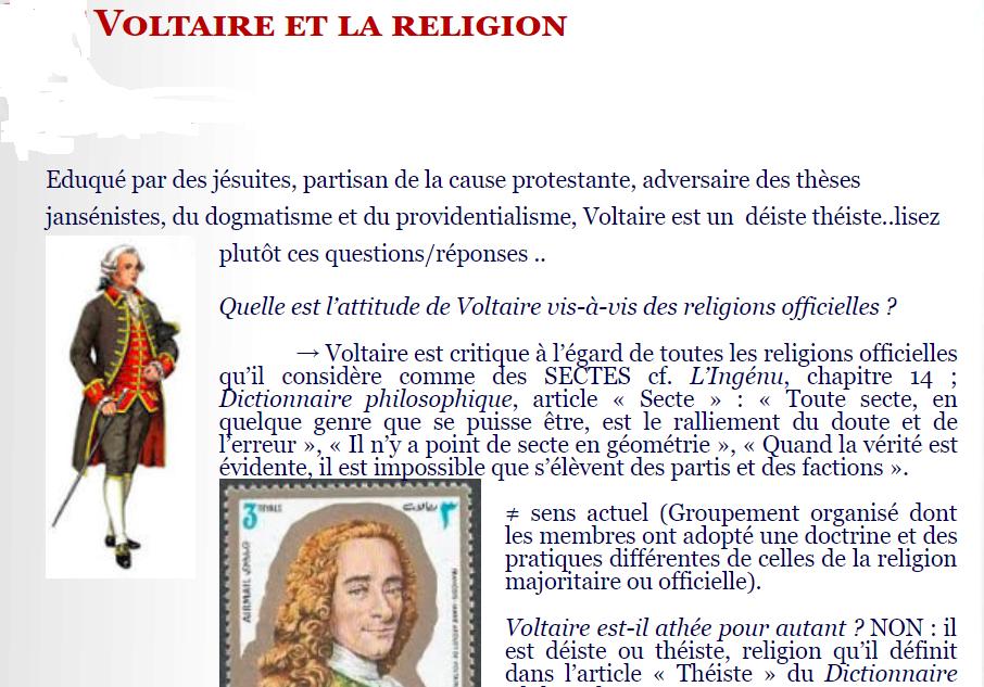 Voltaire religion